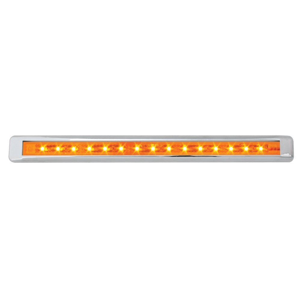 CPW (tm) 12'' Ultra Thin LED Marker Clearance Light Bar With Chrome Bezel