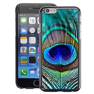 A-type Arte & diseño plástico duro Fundas Cover Cubre Hard Case Cover para iPhone 6 ( Vibrant Teal Blue Nature Bird)