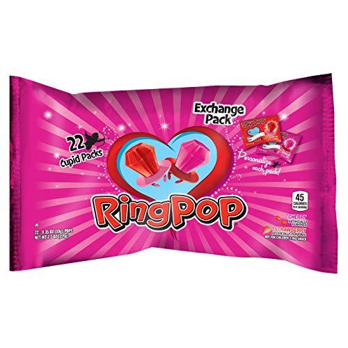 Ring Pop Valentine's Day Strawberry & Cherry Cupid Exchange Packs - 22 ct. (Cherry Tart And Almond)