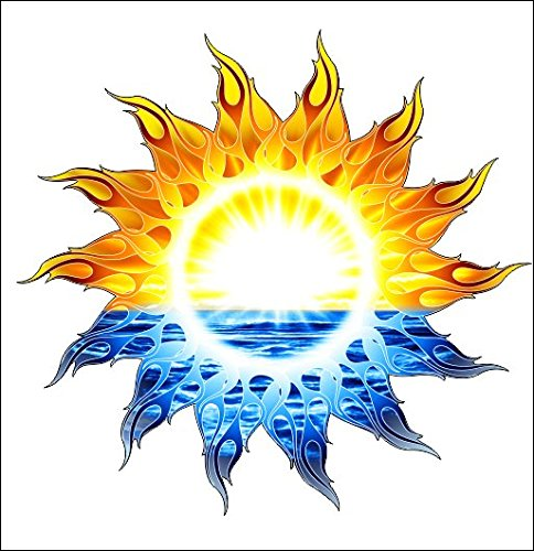 tribal sun sticker decal Shipping