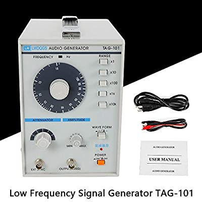 110V Signal Source Audio/Low Frequency Signal Generator TAG-101 Frequency Range 10Hz-1MHz Signal Generator