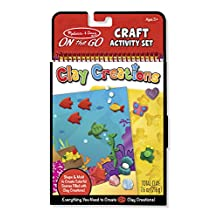 Melissa & Doug On the Go Clay Creations Craft Kit With 6 Clay Colors and Sculpting Tool