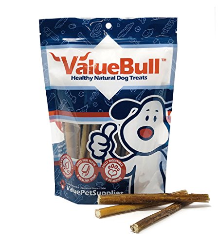 Image of ValueBull Bully Sticks Dog Chews, 6 Inch Regular/Thin, All Natural, 50 Count