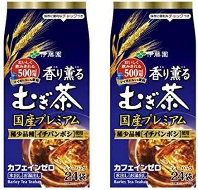 【まとめ買い】 伊藤園 香り薫るむぎ茶 国産プレミアム ティーバッグ 1袋(24バッグ入)×2セット