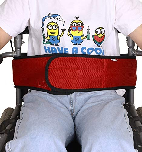 Wheelchair Seat Belt Restraint for Patients Safety Elderly Care, Adjustable Patient Anti-Fall Elderly Restraints Straps, Comfortable Breathable Wheelchair Straps