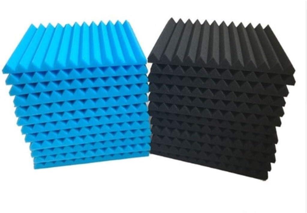 産業用ノイズリダクション 24PCS吸音パネル、ウォールデコレーションアコースティックパネル家庭用ベッドルーム吸音綿30 * 2.5cmの* 30 非毒性 (Color : A)