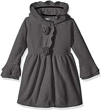 Amazon Com Widgeon Girls Fleece Hooded Rosette Coat