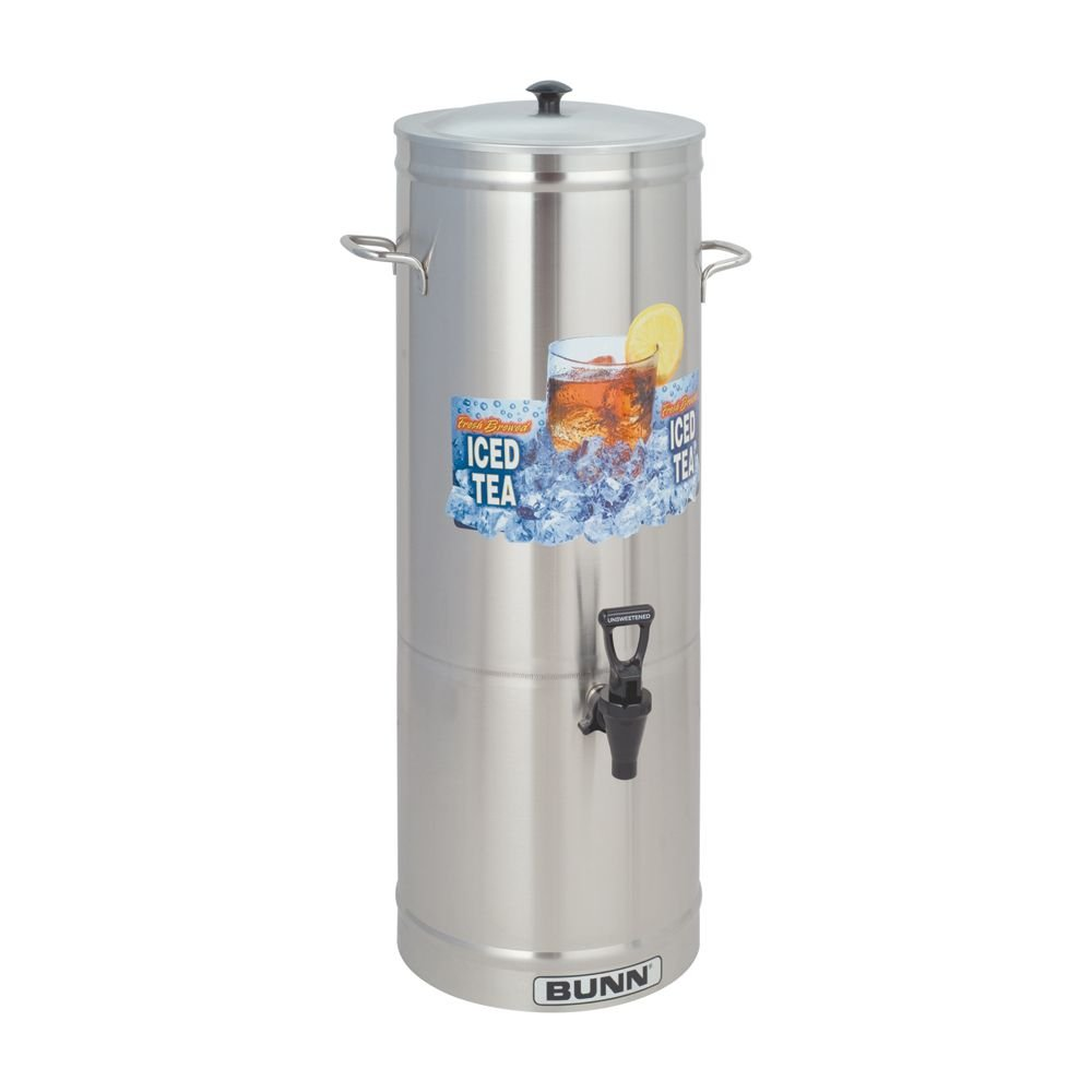 Bunn 5 Gallon Iced Tea Dispenser w/ S/S Lid and Side Handles