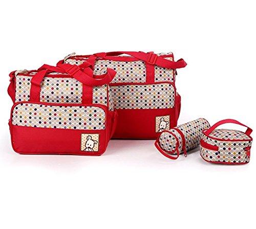 5pcs momia beb/é pa/ñal pa/ñales cambiante maternidad Hospital bolsa Set por Babyhugs/ /rojo y puntos de colores