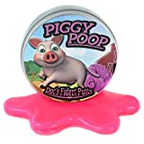 Piggy Poop Fidget Putty – Stress Relief Pig Gifts Funny Gag Gifts for Friends Kids Stocking Stuffers for Girls Secret Santa for Coworkers Weird White Elephant Ideas Fidget Toys Pink Therapy Putty