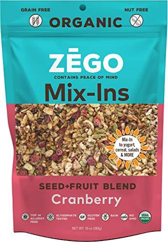 (ZEGO Foods Seed + Fruit Mix-Ins, Non GMO, Organic, Vegan, Gluten Free, 10oz (Cranberry))