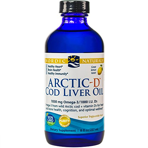 Nordic Naturals - Ártico-D CLO, el corazón y la salud del cerebro y el bienestar óptimo, limón 8 oz