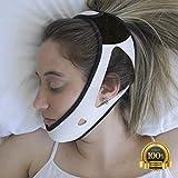 PrimeSiesta Anti Snoring Chin Strap (Medium/Large, White)