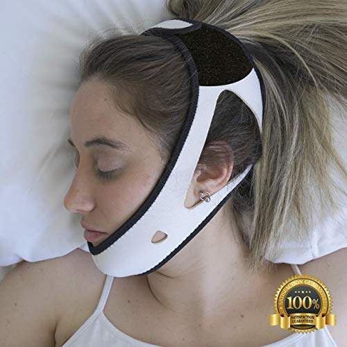 - PrimeSiesta: Anti Snoring Chin Strap - Snore Stopper & Snoring Solution - Breathable, Flexible & Easily Adjustable with Eversoft Technology (Medium\Large)