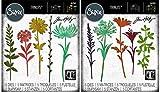 Tim Holtz Sizzix Flower Stems Thinlit Bundle - Wildflower Stems #1 and Wildflower Stems #2