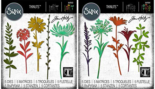 Tim Holtz Sizzix Flower Stems Thinlit Bundle - Wildflower Stems #1 and Wildflower Stems #2 by Tim Holtz (Image #5)