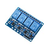 Picture of Elegoo 4 Channel DC 5V Relay Module with Optocoupler for Arduino UNO R3 MEGA 2560 1280 DSP ARM PIC AVR STM32 Raspberry Pi
