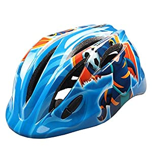 Kids Cycling Helmet, Mini Ultralight Bicycle Secure & Safety Headguard Adjustable Bike Protective Harnesses Cap (Bee and Blue)
