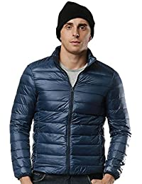 Packable Down Jacket For Men Outwear Lightweight Men's Puffer Jacket