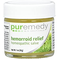 Puremedy Unscented Hemorrhoid Relief Homeopathic Salve, 1 Ounce