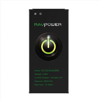 RAVPower Batería para Samsung Galaxy S5 (2800mAh 48 Horas 500 Ciclos de Carga Protección contra Sobrecalentamiento Cortocircuitos Sobrecargas y ...