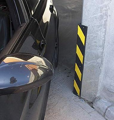 Kit de dos Protectores esquina de caucho con reflecte amarillo. Cantonera de caucho de gran visualización en color negro y amarillo: Amazon.es: Industria, empresas y ciencia