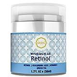 Wrinkles-N-All Retinol Moisturizer Cream For Men & Women By Wakai Skin | Anti Aging Facial Moisturizing Cream With Hyaluronic Acid, Green Tea & Vitamin E | Soothing & Firming Hydration | 50ml