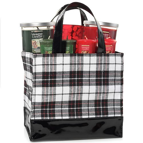 Yankee Candle Large Plaid Tote Gift Set