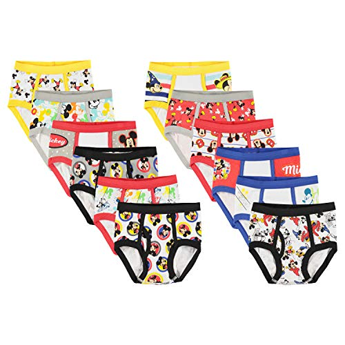 - Disney Boys' Toddler Mickey Mouse Days' Gift Box 12-Pack Brief, 6