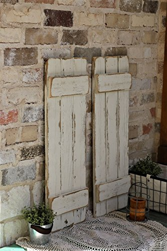 Doug and Cristy Designs White Distressed Farmhouse Shutters by Doug and Cristy Designs (Image #1)
