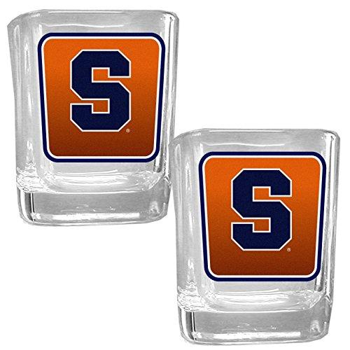 (NCAA Syracuse Orange Square Glass Shot Glass Set )