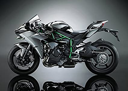 2017 Kawasaki Ninja H2 Super Bike Poster A0 1189x841mm Amazonco