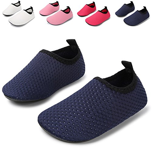 JIASUQI Summer Casual Skin Water Shoes Socks for Baby,Sand Swimming,Navy Dot 12-18 Months