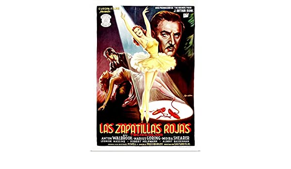 Amazon.com: GREATBIGCANVAS Poster Print Entitled The Red Shoes, Poster Art from Spain, 1948 by 17