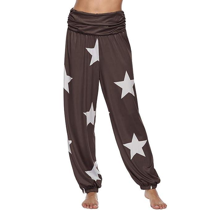 Pantalones de Yoga Pantalones Anchos elástico Pantalones de ...