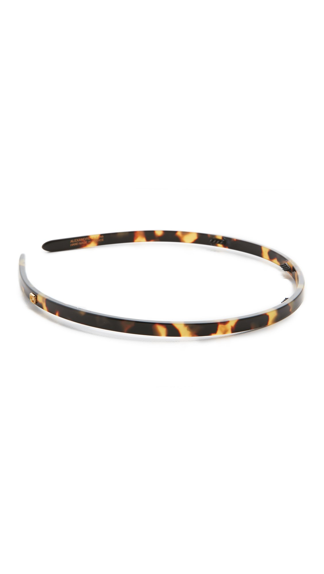 Alexandre de Paris Women's Thin Headband, Tokyo Tortoise, Brown, Print, One Size by Alexandre de Paris (Image #3)
