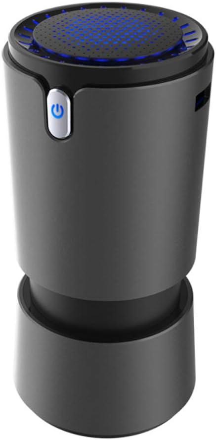 Purificador De Aire Recargable USB, Purificador De Aire De Ionizador De Automóvil Con Filtro De 3 Capas Ambiente, Blu-Ray, Eliminar Olores De Mascotas, Humo Para La Oficina De Autocaravanas,Negro: Amazon.es: Hogar