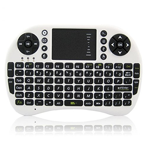 UKB-500-RF Multi-functional 2.4G Wireless Mini Air Mouse Keyboard White + Black by Completestore from Completestore