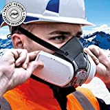 High Performance FORCE 8 Dust System - Mask, Complete With Twin, Ready Fitted, Press to Check P3 (98%) Dust Filters and free set of disposeable Ear Plugs for work in Noisy Environments.