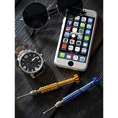 Tools Mule 5-in-1 Eyeglass Repair Kit, Small Precision Jewelers Screwdriver Set, PS4 Screw Driver, Pocket Screwdriver: Home Improvement
