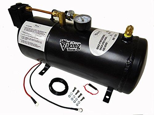 Viking Horns V3301 1 Gallon Air Tank & 150 PSI Air Compressor, On-Bard Air system for Train Horns