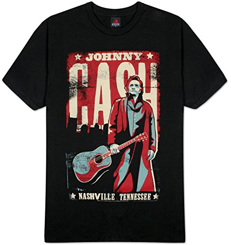 Johnny Cash Nashville Poster Adult T-shirt L