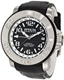 Invicta Men's 1129 Reserve Automatic Black Dial Black Leather Watch