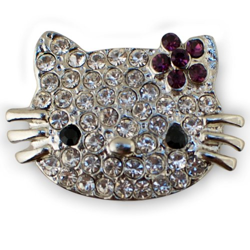 BestPysanky Crystal Cat Pin -