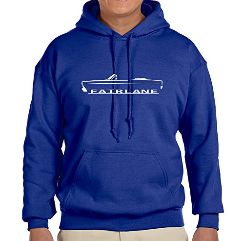 1966 1967 Ford Fairlane Convertible Classic Outline Design Sweatshirt Hoodie XL -