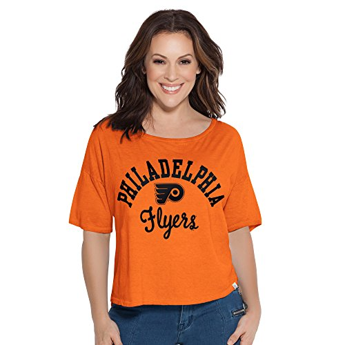 NHL Philadelphia Flyers Adult Women Touch S Base Reversible Tee,Large,Orange