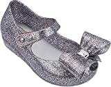 Mini Melissa Girls' Mini Ultragirl Bow III Ballet Flat, Multicolor Glitter, 5 Medium US Toddler