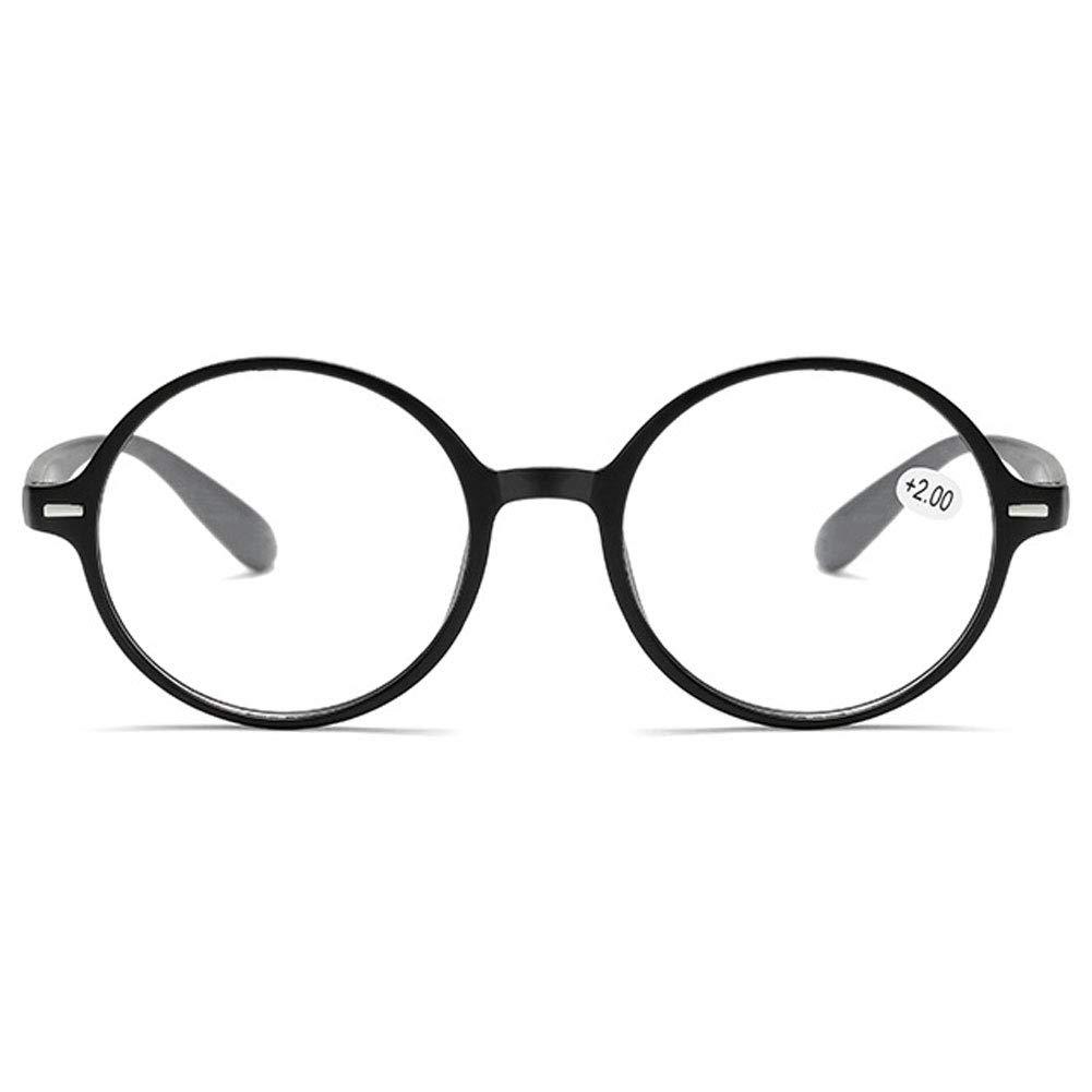 KOOSUFA Lesebrille Damen Herren Leicht Retro Runde Nerdbrille Lesehilfen Sehhilfe Vollrandbrille Anti M/üdigkeit Brille mit St/ärke 1.0 1.5 2.0 2.5 3.0 3.5 4.0