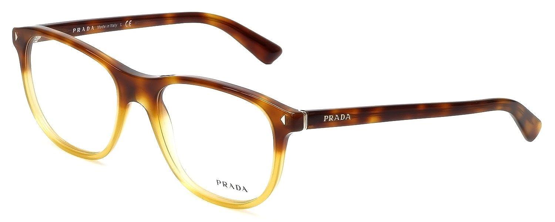 Amazon.com: Prada Eyeglasses VPR 17R Eyeglasses TKU1O1 Light Havana ...