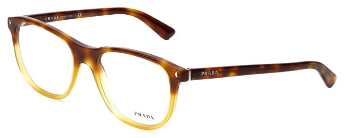 ef131c8ba9 Amazon.com  Prada Eyeglasses VPR 17R Eyeglasses TKU1O1 Light Havana ...
